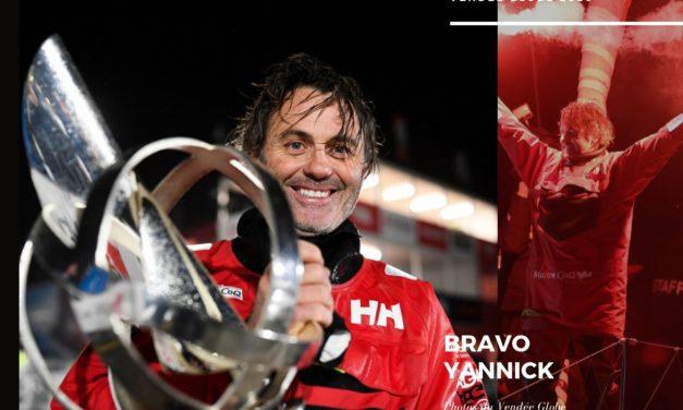 Yannick Bestaven vainqueur de la 9eme édition du Vendée Globe