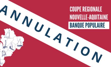 Annulation Coupe régionale Nouvelle-Aquitaine Banque Populaire 2021