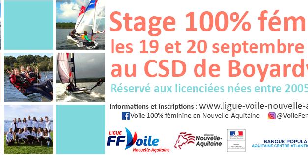 Les inscriptions pour le stage 100% féminin 2020 sont ouvertes !
