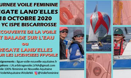 Journée Voile Féminine 2020 et 1ère édition de la Régate Land'ELLES