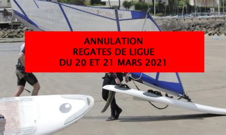 ANNULATION REGATES DE LIGUE DU 20 et 21 MARS 2021