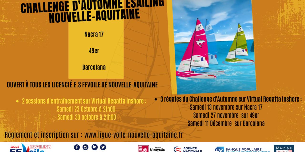 La Ligue de Voile Nouvelle-Aquitaine lance son Challenge d'Automne eSailing !